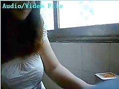 Chinese chick lactating on webcam