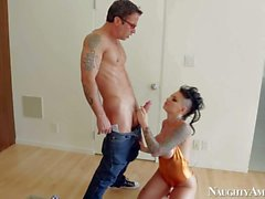 Christy Mack is his sister's slutty goth fiend with incredibly