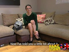FakeAgentUK Anal acrobatics from Italian babe in casting