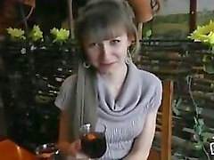 Natasha makes a Blowjob in the cafe
