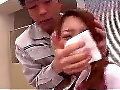 Office Lady Rapped Getting Her Pussy Rubbed And Fucked Facial By The Robber In The Office