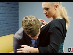 Nice Tits Blonde Breakroom Office Fuck CJ Jean
