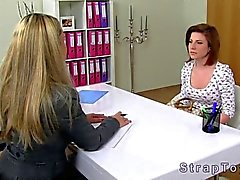 Female agent makes out with an aspiring pornstar