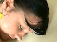 Taming pussy after sexy massage