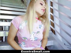 ExxxtraSmall - Petite Blond Teen Swallows Fat Cock