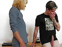 Mommy teacher playing plus a cock
