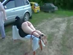 Outdoor public Spanking and Whipping