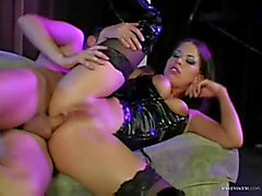Sexually Excited latex lass screwed in the booty