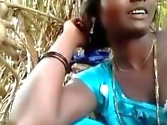 Indian Couple Fuck Outside Behind A Village