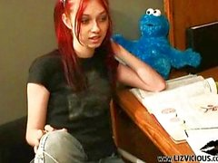 liz vicious sweet gothic chick naughty school
