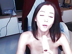 Super Cute Latvian Cam Girl Sucks Toy on Cam