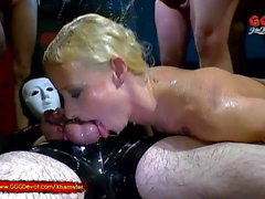 Piss and Cum for Skinny Blondie Lucie - GGG Devot