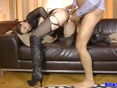 Busty UK amateur pounded hard doggystyle