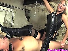 BDSM heel worshipping session