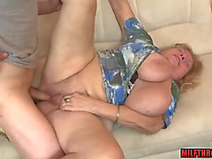 Large love melons aged titty fuck and cum on melons