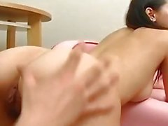 Naughty Asian Maria Ozawa gets hairy twat fingered before harsh drilling