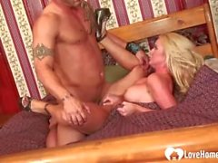Blonde in high heels gets fucked hard