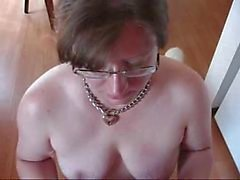 Kinky slave whore eating