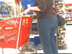 Gilf jeans booty at Target shopping