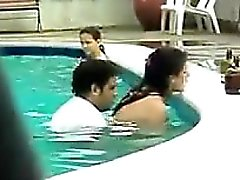 Couple Having Sex In The Pool