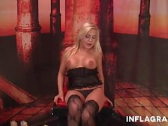 oralsex, blondine, brünett, deepthroat, uniform