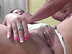 Dark Brown after sex swallows cum