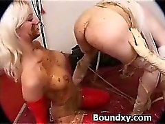 Spandex Fetish Slut Caned Wildly
