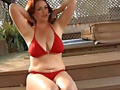 Amazing Woman near the Swimming Pool ( slow motion)