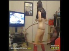 Jersey Girl hoola-hooping while prestiging in call of duty black ops II