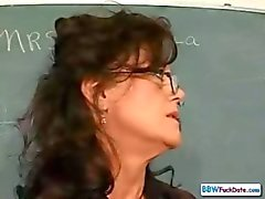 Mature BBW Collage Teacher