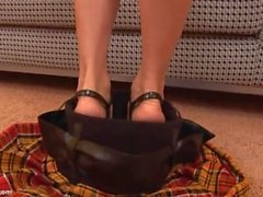 Teasing Teen Shows Upskirt Panties Cameltoe