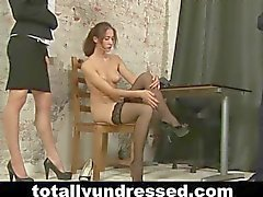 Kinky nude job interview