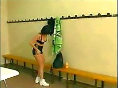 French Milf Gangbanged In Changing Room