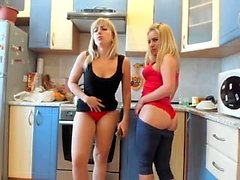 Kinky amateur lesbian spanking party