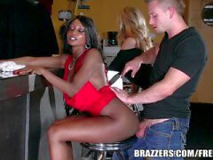 Brazzers - Ebony and ivory, anal threesome