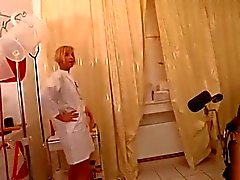 Assplay-Strapon Nurse gives him a Rectal Exam