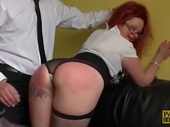 Slutty assistant Summer Angel Lee slammed and dommed