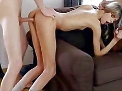 Skinny Young Slut Takes Two