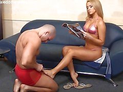 Aleska Diamond with her servant boy