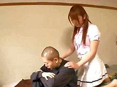 Bondaged Jap slut gets toyed