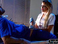 Kinky big boobs blondie nurse pounded in hospital ward