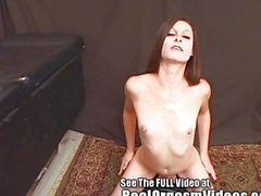 Thin Brunette Orgasms Riding Dirty Ds Sybian