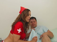 Round assed nurse Francesca Le gets Her anal hole fingered