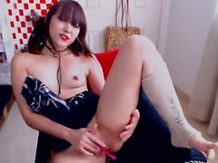Tattoed Asian Girl Masturbation Webcam for more visit