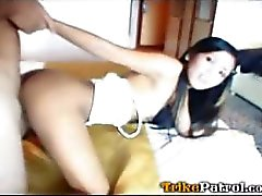 Stunningly hot young Filipina girl has pussy stuffed by tourist in hotel