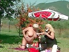 Fat Granny Fucked With Bottle
