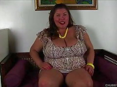 Super cute chubby babe has nice big tits & a fat juicy pussy