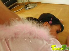 Tamed Teens Pigtailed teen demolished by experienced cocks